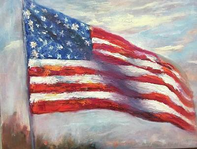 Painting - Old Glory Vi by Debbie Frame Weibler