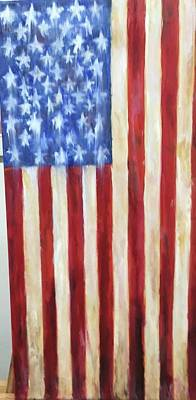 Painting - Old Glory Vii by Debbie Frame Weibler