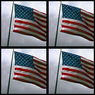 Star Spangled Banner Digital Art - Old Glory X 4 by Daniel Hagerman