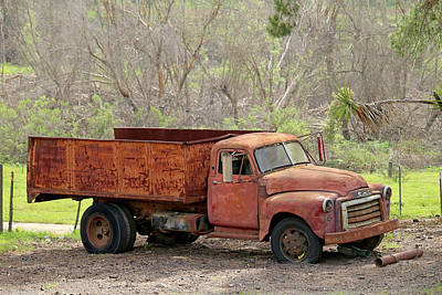 Photograph - Old Gmc Dump Truck by Art Block Collections