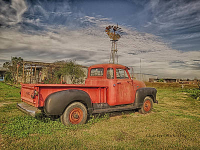 Photograph - Old Gmc Truck by Charles McKelroy