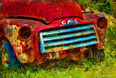 Photograph - Old Gmc Truck In Klimt by Anna Louise