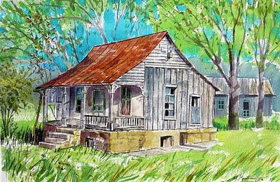 Mike Martin Painting - Old Government Building by Mike Martin