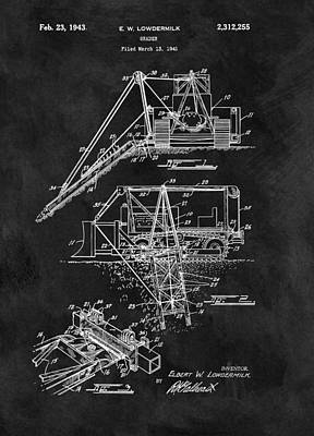 Drawing - Old Grader Patent by Dan Sproul