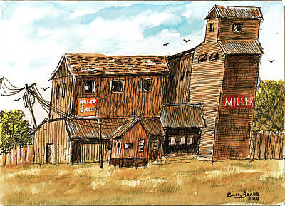 Painting - Old Grain Elevator by Barry Jones