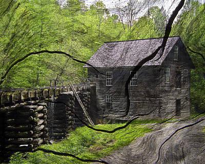 Old Grain Mill Art Print by Michael Whitaker