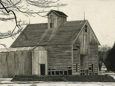 Old Grainery Art Print by Bryan Baumeister