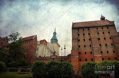 Old Granaries In Grudziadz Poland Art Print