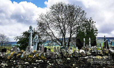 Photograph - Old Grave Yard Of Ireland by Lexa Harpell