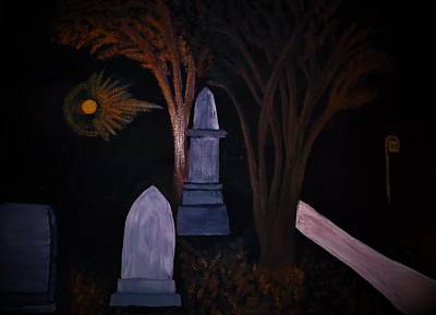 Cemetary Mixed Media - Old Graves by Bhean Spiorad