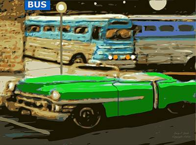 Old Grayhound Bus Station Art Print by Larry Lamb