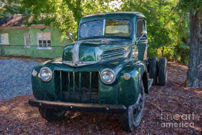 Photograph - Old Green Ford Farm Truck by Dale Powell