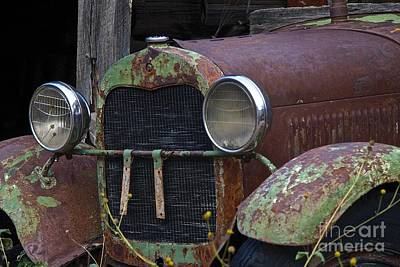 Trucks Photograph - Old Green Truck by Anthony Jones