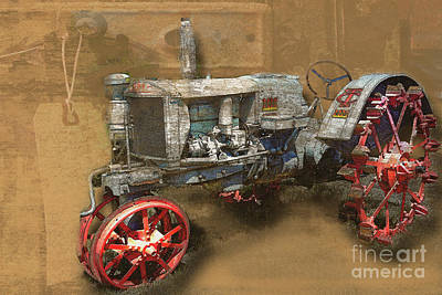 Old Grey Tractor Art Print