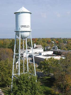 Photograph - Old Gridley Water Tower by Dylan Punke