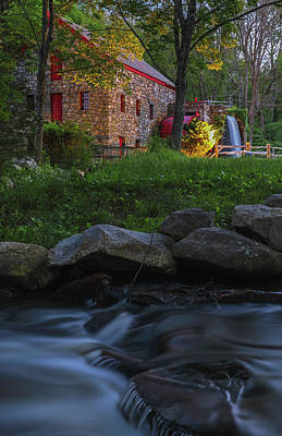 Photograph - Old Grist Mill At Wayside Inn Historic District by Juergen Roth