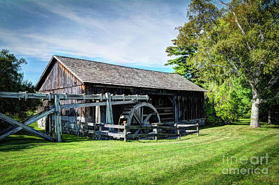 Longfellow S Grist Mill Photograph - Old Grist Mill by Deborah Klubertanz