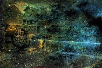 Grist Mill Mixed Media - Old Grist Mill  by Don Weber