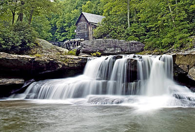 Old Grist Mill In Babcock State Park West Virginia Art Print by Brendan Reals