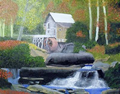 Old Grist Mill Art Print by John Smith