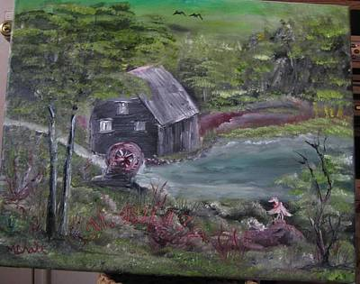 Old Grist Mill Art Print by M Bhatt