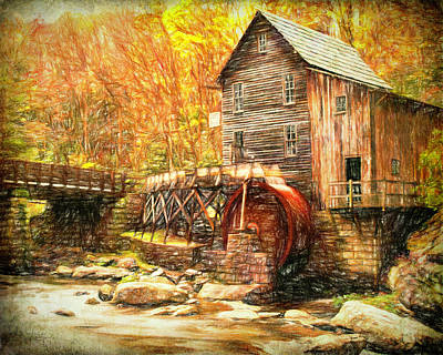 Photograph - Old Grist Mill by Mark Allen