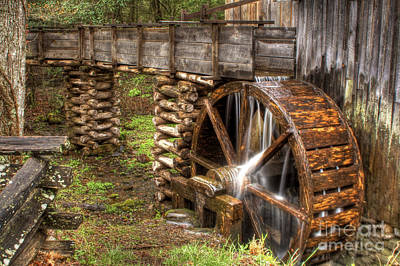 Photograph - Old Grist Mill by Photography by Laura Lee