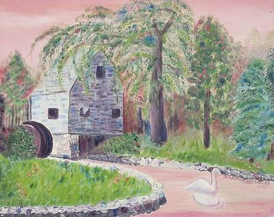 Old Grist Mill Art Print by Suzanne  Marie Leclair