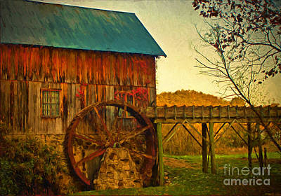Photograph - Old Gristmill  by Dave Bosse