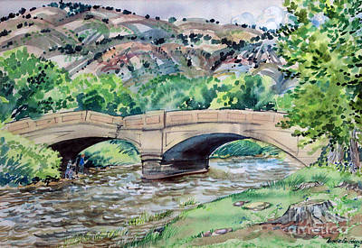 Painting - Old Gypsum Bridge by Annie Gibbons