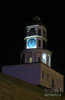Halifax Town Clock Painting - Old Halifax Town Clock On Citadel Hill by John Malone