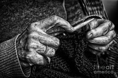 Photograph - Old Hands by Jim Crawford