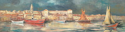 Painting - Old Harbor Panoramic by Luke Karcz