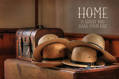 Old Hats Print by Lori Deiter