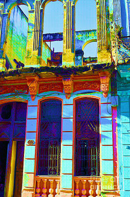Old Havana Remnant Art Print by Chris Andruskiewicz