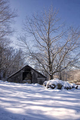 Old Hay Barn Boxley Valley Art Print