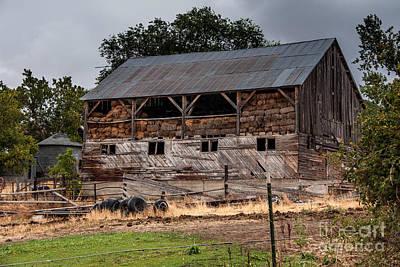 Old Hay Barn During Thunderstorm - Utah Art Print by Gary Whitton