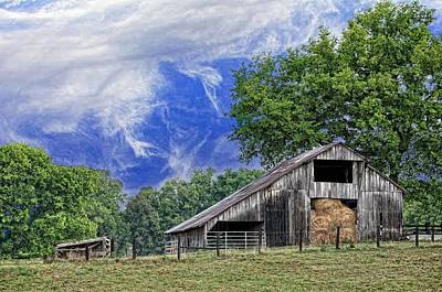 Tennessee Hay Bales Photograph - Old Hay Barn by Jan Amiss Photography