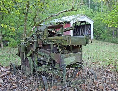 Old Hay Machine Art Print
