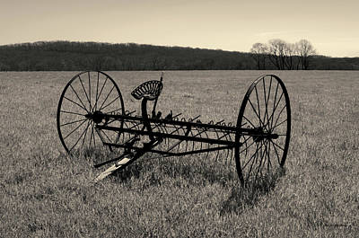 Photograph - Old Hay Rake Toned by David Gordon