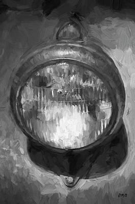 Photograph - Old Headlamp II Bw by David Gordon