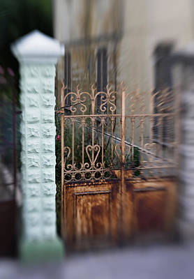 Antique Photograph - Old Heart Gate 2 by Marilyn Hunt