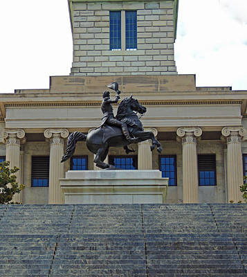 Capitol Building Digital Art - Old Hickory On Horseback by Marian Bell
