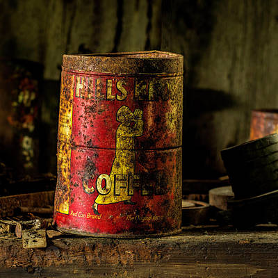 Photograph - Old Hills Brothers Coffee Can by Fred Denner