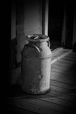 Old Milk Jugs Photograph - Old Historical Creamery Milk Can by Randall Nyhof