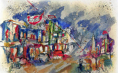 Coca-cola Signs Mixed Media - Old Hollywood Blvd. by Lily Hymen