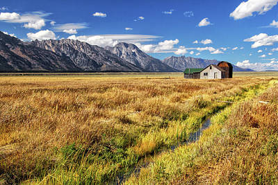 Photograph - Old Homestead In The Tetons by Carolyn Derstine