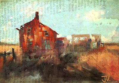 Digital Art - Old Homestead Near Stirling by Jim Vance