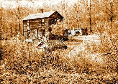 Digital Art - Old Homestead Photo Early 1950's Era. A Different Concept by Rusty R Smith