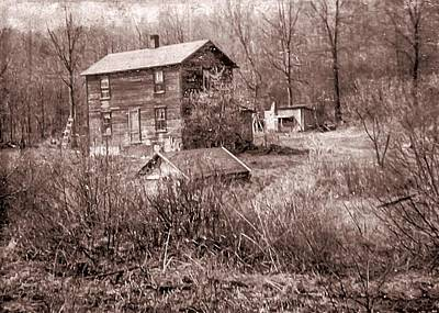 Digital Art - Old Homestead Photo Early 1950's Era. by Rusty R Smith